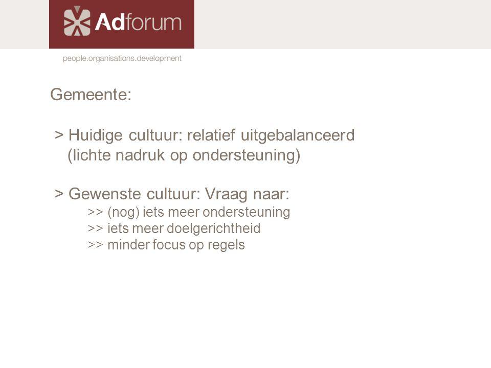 Gemeente: > Huidige cultuur: relatief uitgebalanceerd