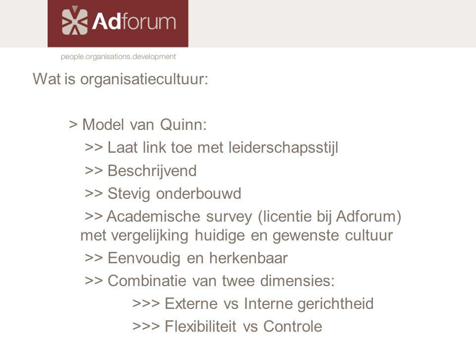 Wat is organisatiecultuur: