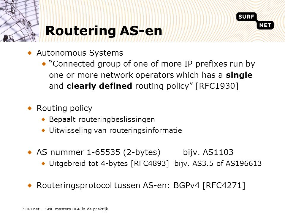 Routering AS-en Autonomous Systems