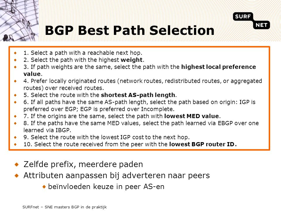 BGP Best Path Selection