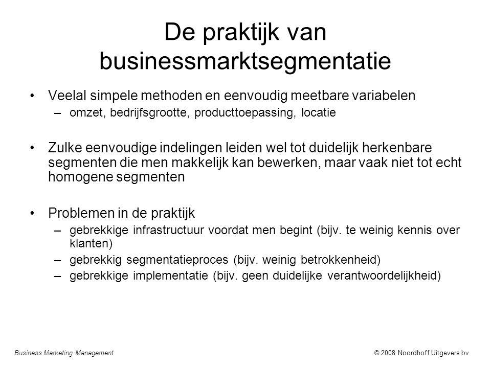 De praktijk van businessmarktsegmentatie