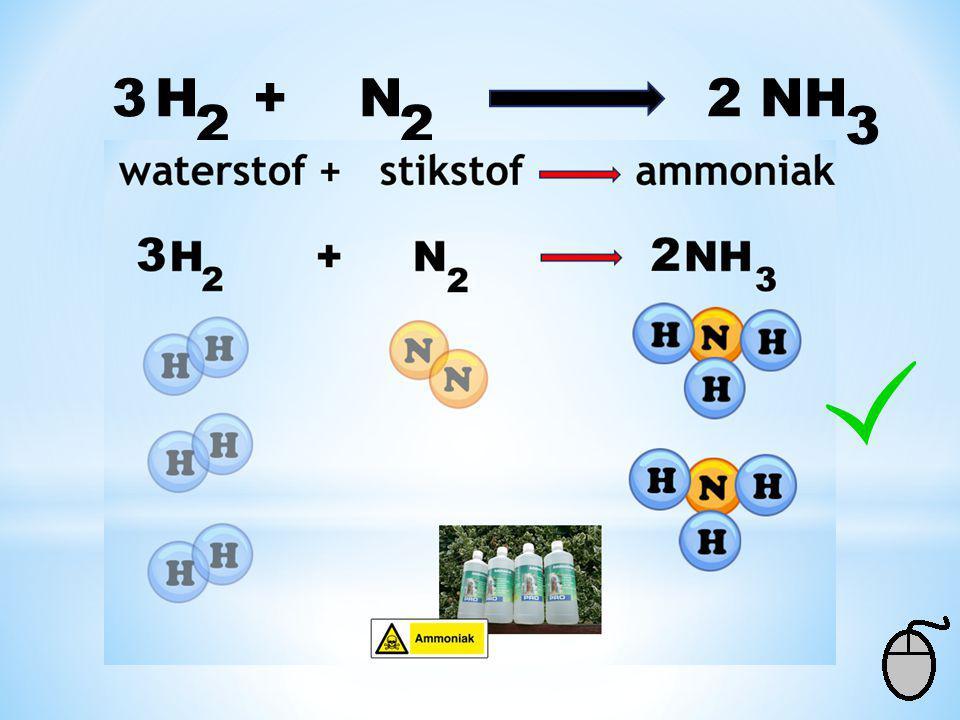 3 H + N 2 NH 2 2 3