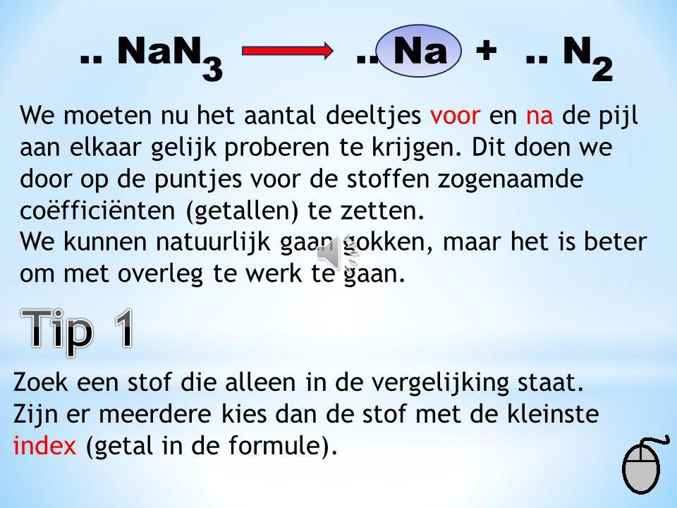 .. NaN .. Na + .. N 3. 2.