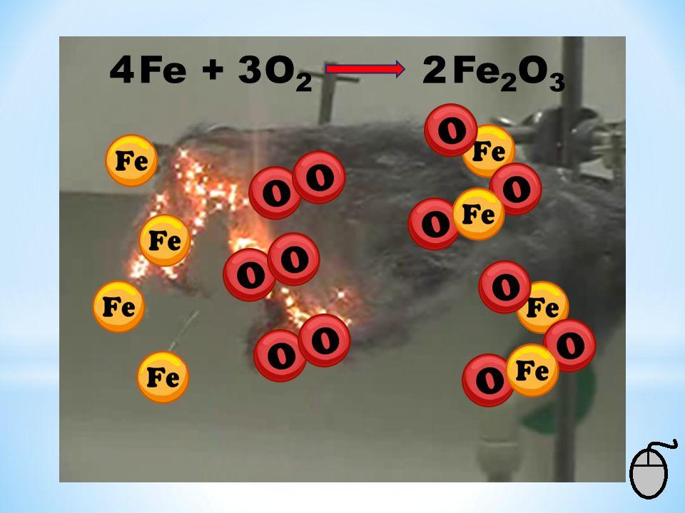 4 Fe + O2 Fe2O3 3 2