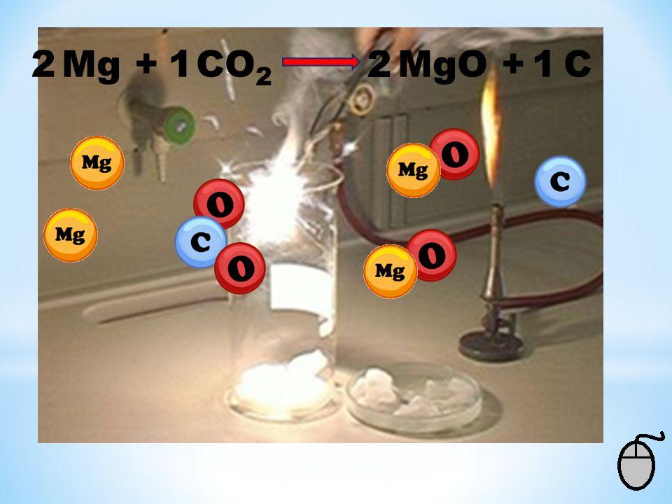 2 Mg + CO2 MgO + C 1 2 1