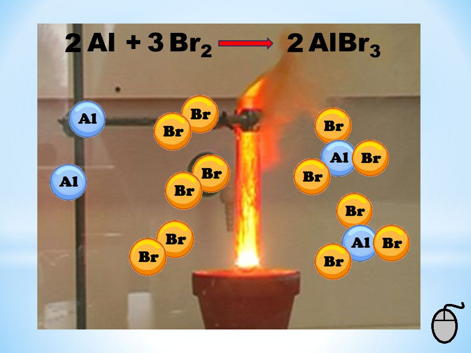 2 Al + Br2 AlBr3 3 2