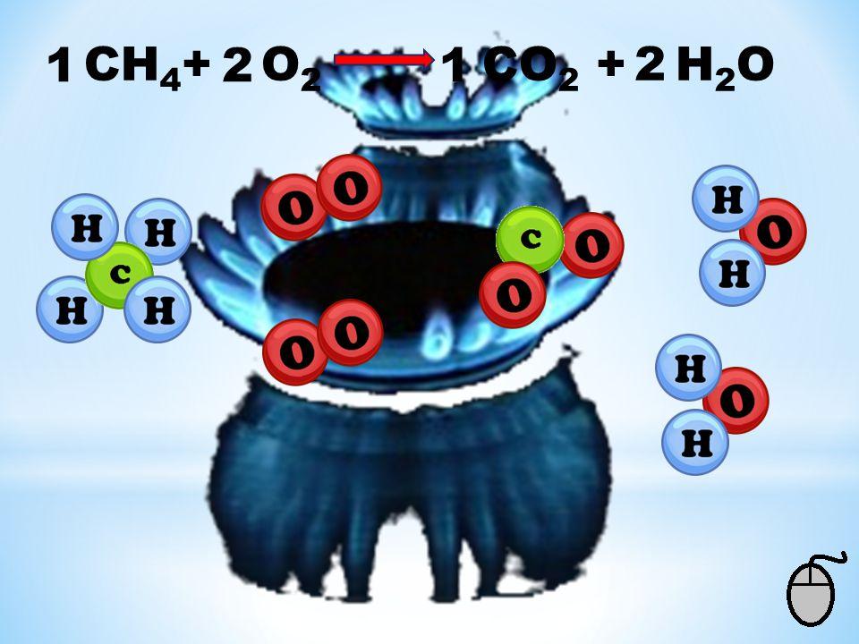 1 CH4+ O2 CO2 + H2O 2 1 2