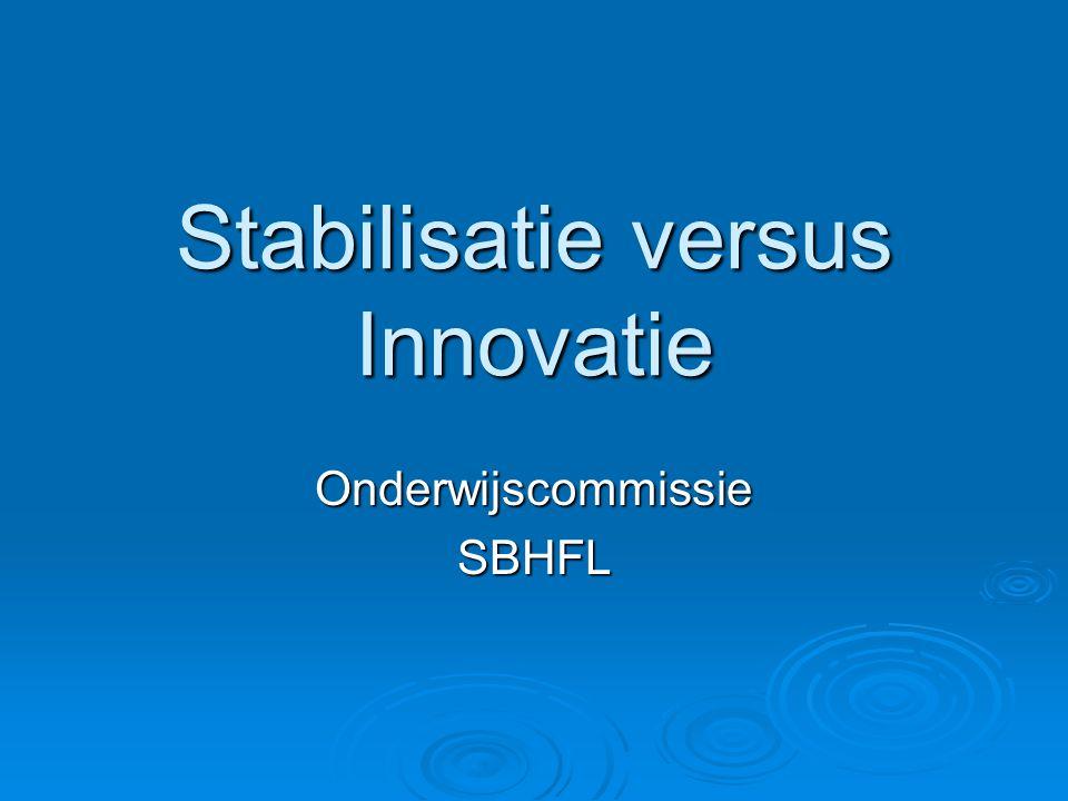 Stabilisatie versus Innovatie