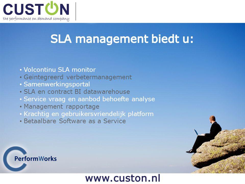 SLA management biedt u:
