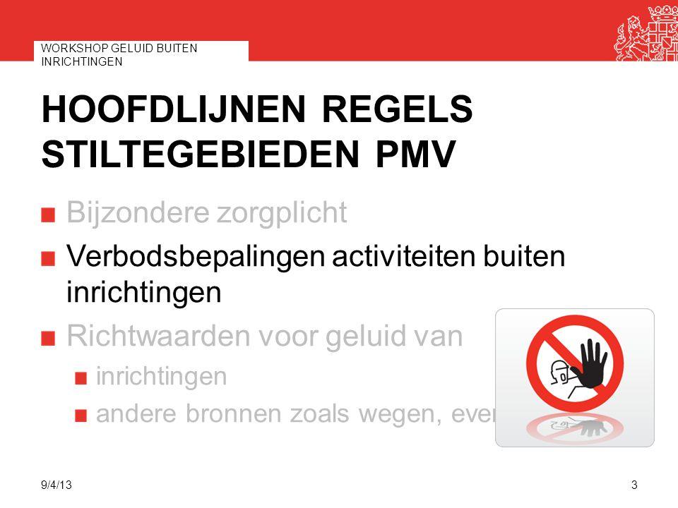 Hoofdlijnen regels stiltegebieden PMV