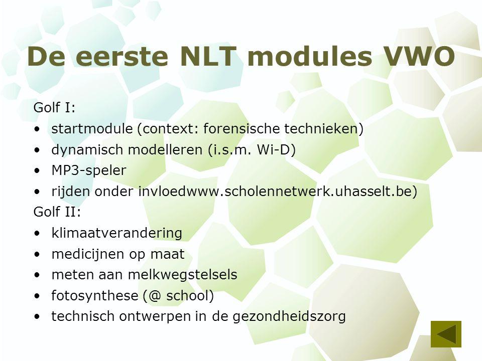 De eerste NLT modules VWO