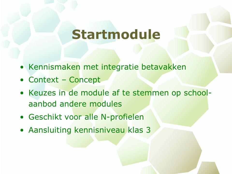 Startmodule Kennismaken met integratie betavakken Context – Concept