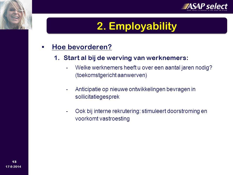 2. Employability Hoe bevorderen