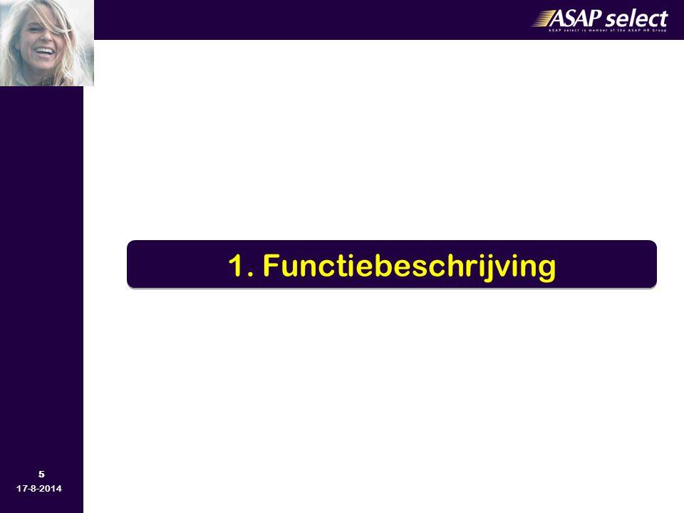 1. Functiebeschrijving