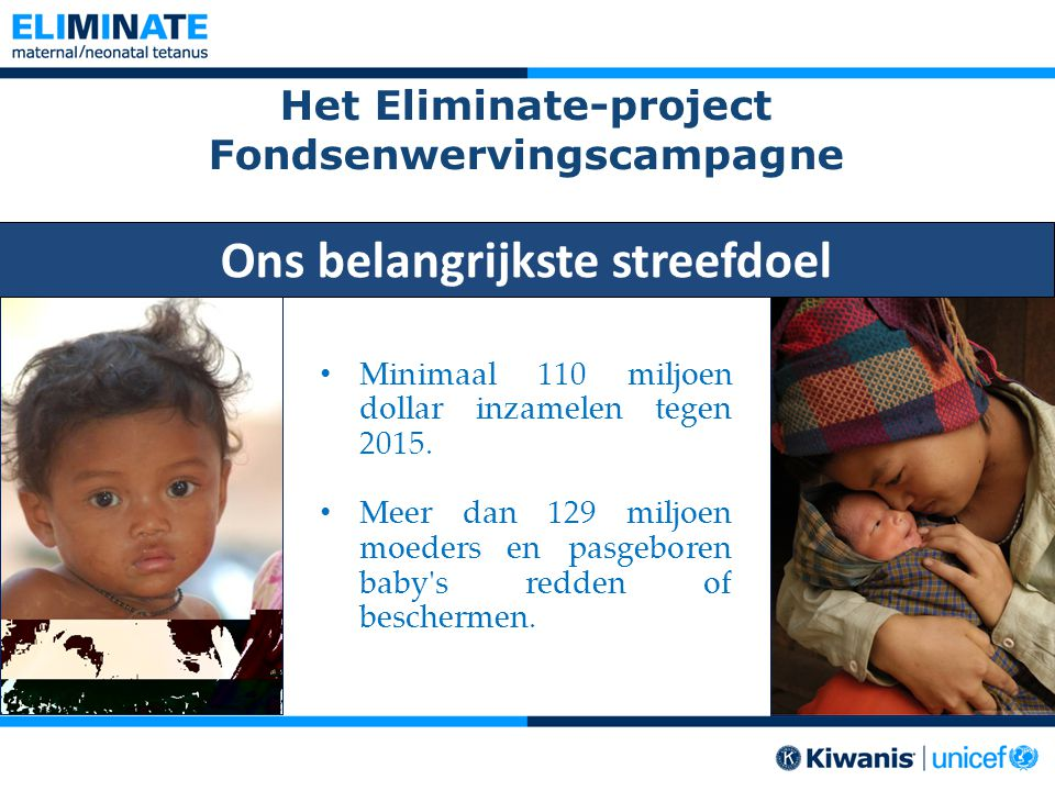 Het Eliminate-project Fondsenwervingscampagne