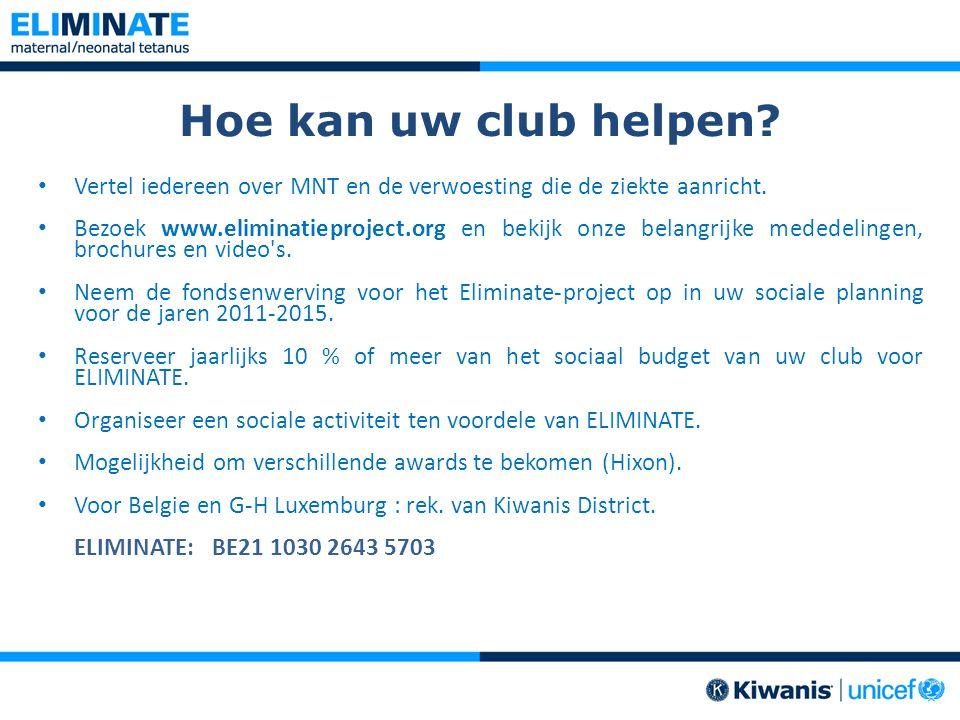 Hoe kan uw club helpen Vertel iedereen over MNT en de verwoesting die de ziekte aanricht.