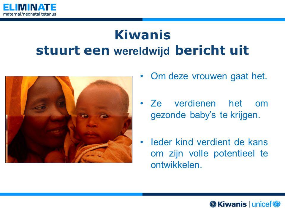 Kiwanis stuurt een wereldwijd bericht uit