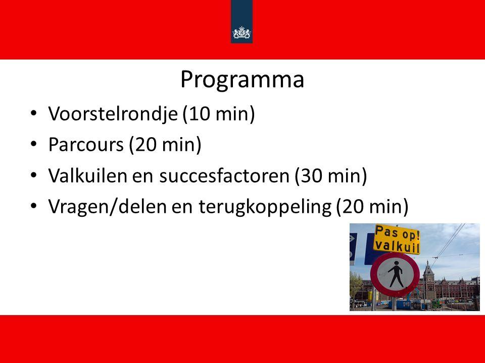 Programma Voorstelrondje (10 min) Parcours (20 min)