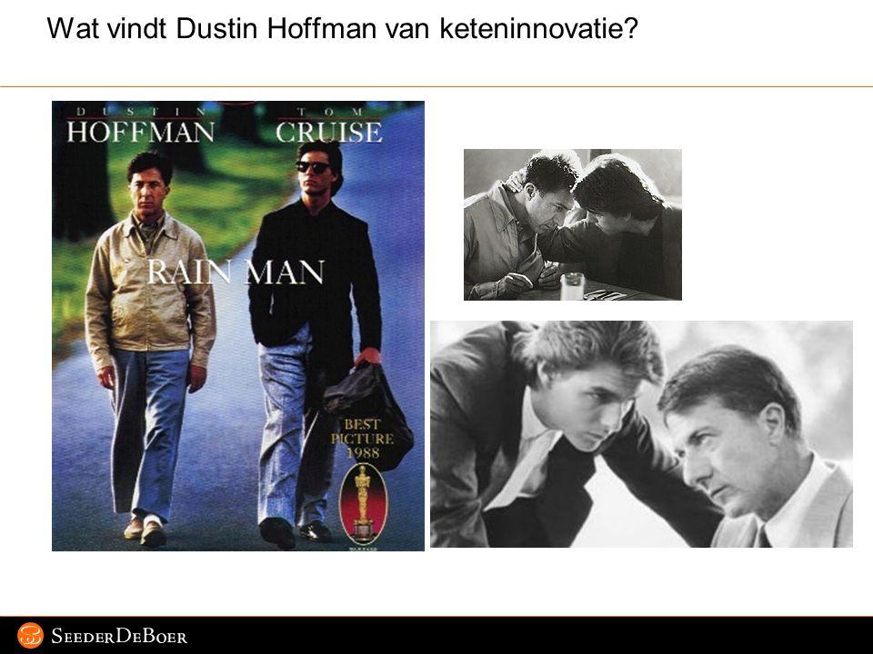 Wat vindt Dustin Hoffman van keteninnovatie