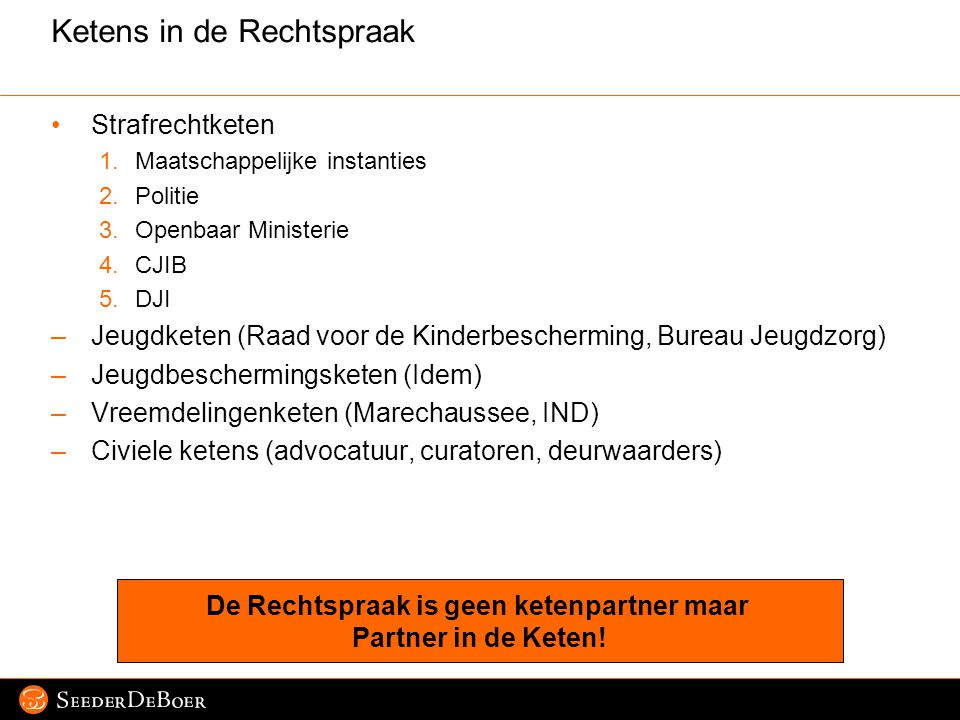 Ketens in de Rechtspraak