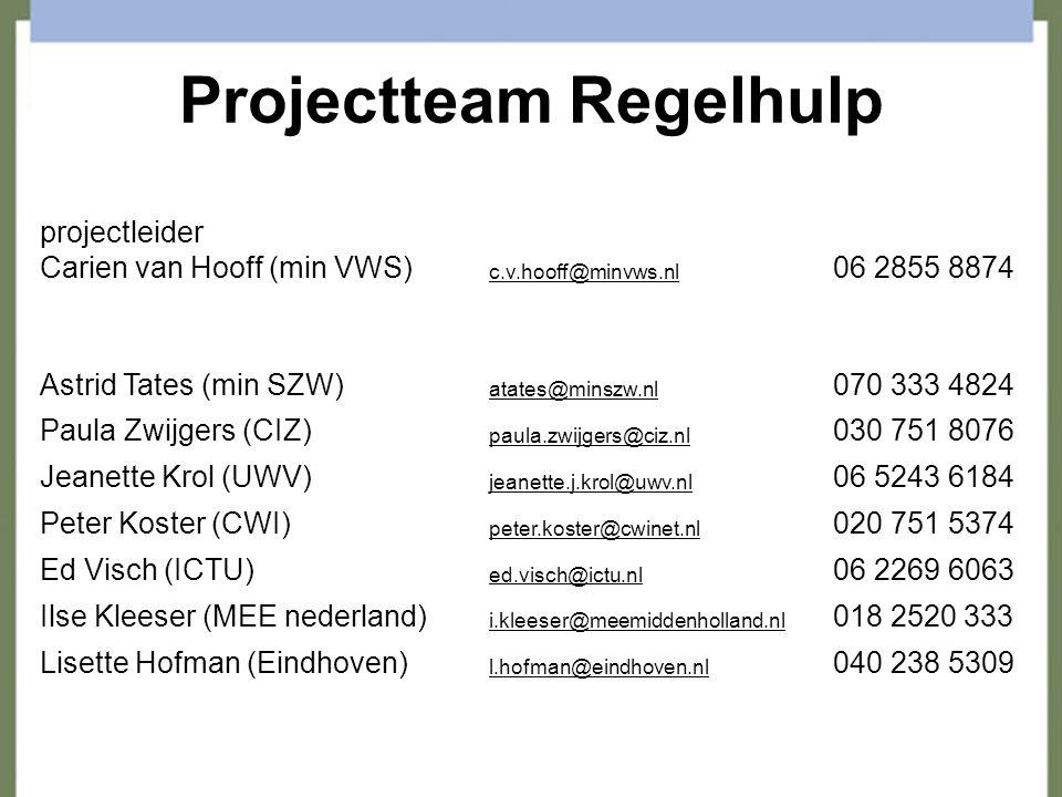 Projectteam Regelhulp