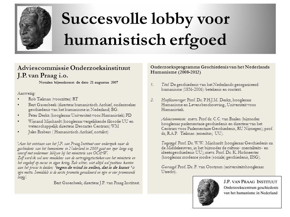 Succesvolle lobby voor humanistisch erfgoed