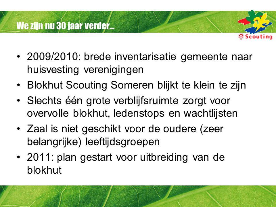 2009/2010: brede inventarisatie gemeente naar huisvesting verenigingen