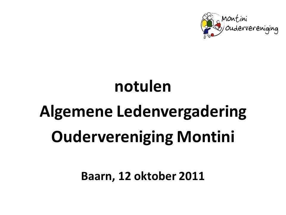 Algemene Ledenvergadering Oudervereniging Montini