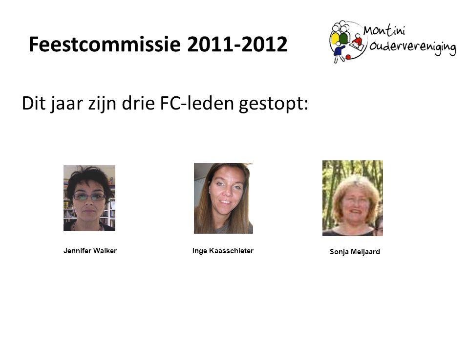 Feestcommissie 2011-2012 Dit jaar zijn drie FC-leden gestopt: