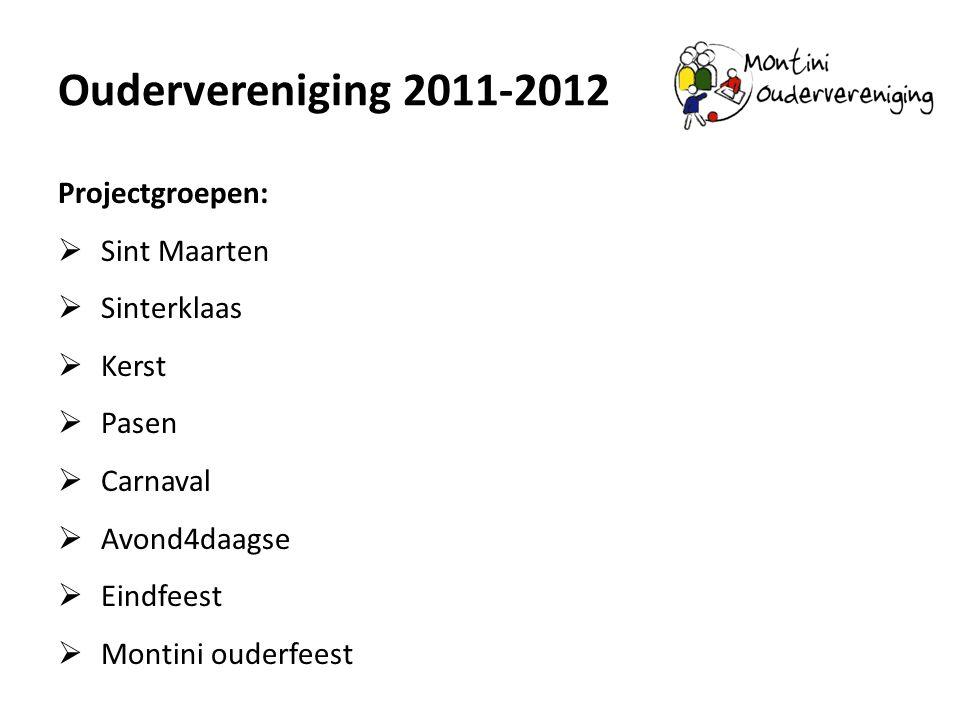 Oudervereniging 2011-2012 Projectgroepen: Sint Maarten Sinterklaas