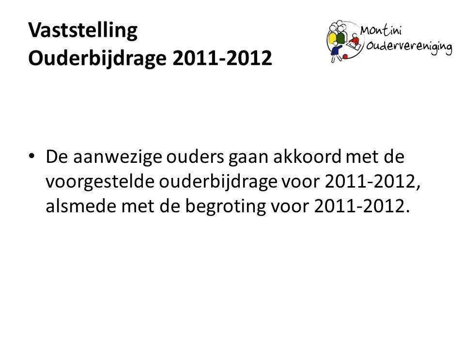 Vaststelling Ouderbijdrage 2011-2012