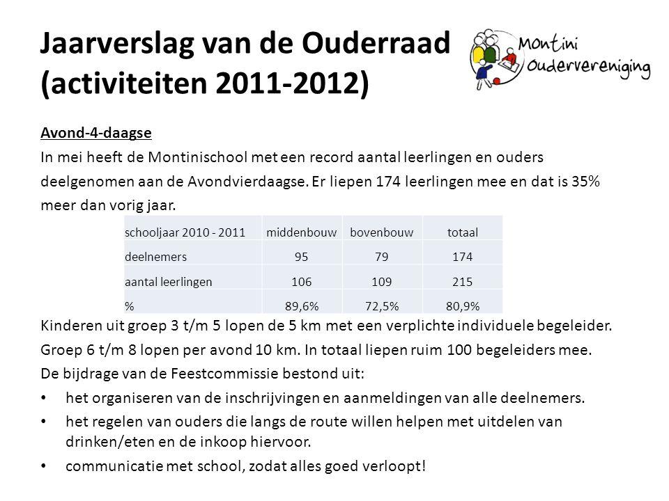 Jaarverslag van de Ouderraad (activiteiten 2011-2012)