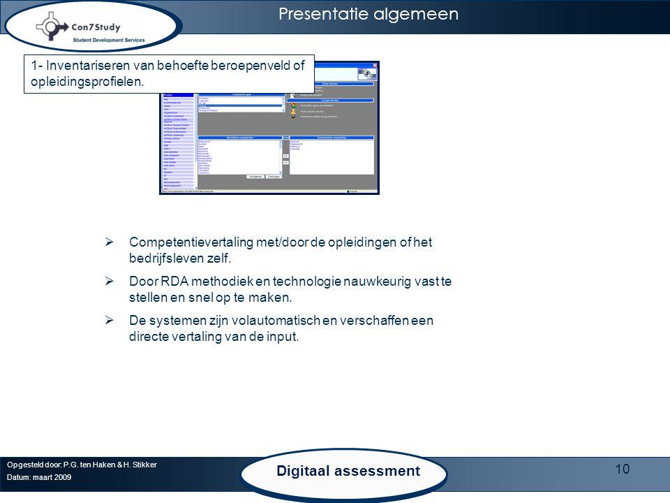 Presentatie algemeen Digitaal assessment