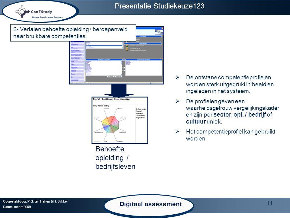 Presentatie Studiekeuze123