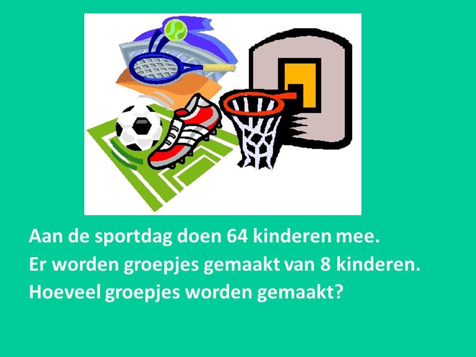 Aan de sportdag doen 64 kinderen mee.