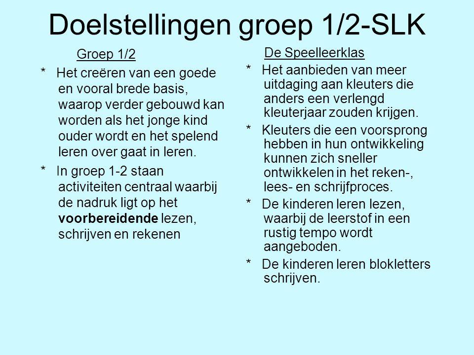 Doelstellingen groep 1/2-SLK