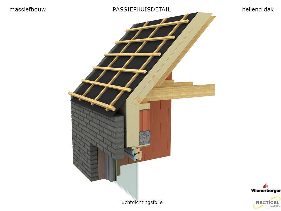 massiefbouw PASSIEFHUISDETAIL hellend dak luchtdichtingsfolie