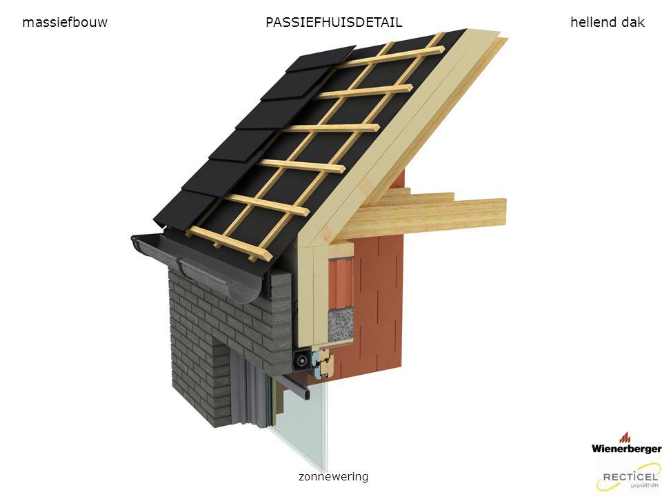 massiefbouw PASSIEFHUISDETAIL hellend dak zonnewering
