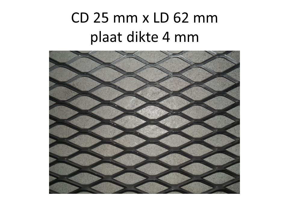CD 25 mm x LD 62 mm plaat dikte 4 mm