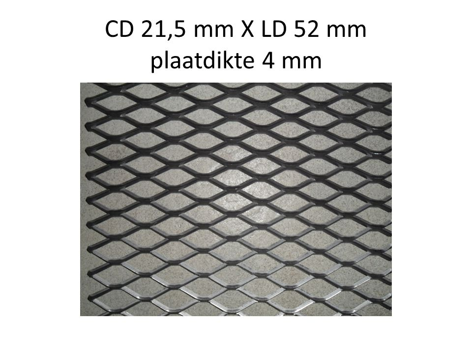 CD 21,5 mm X LD 52 mm plaatdikte 4 mm