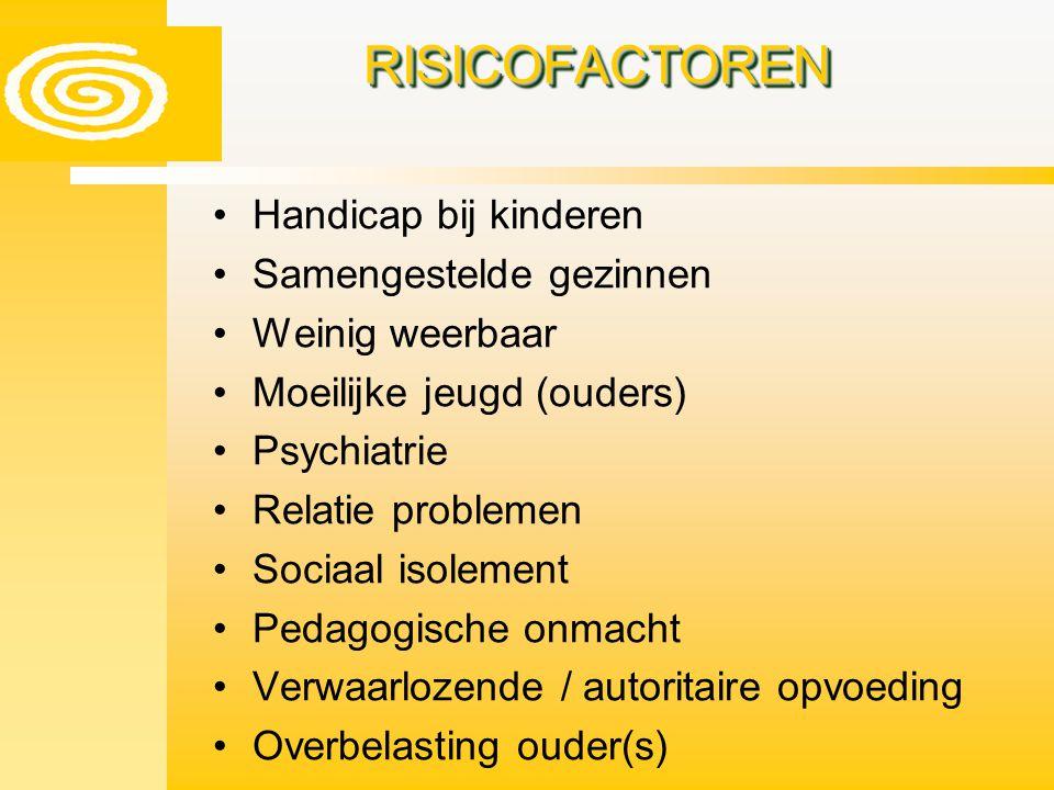RISICOFACTOREN Handicap bij kinderen Samengestelde gezinnen
