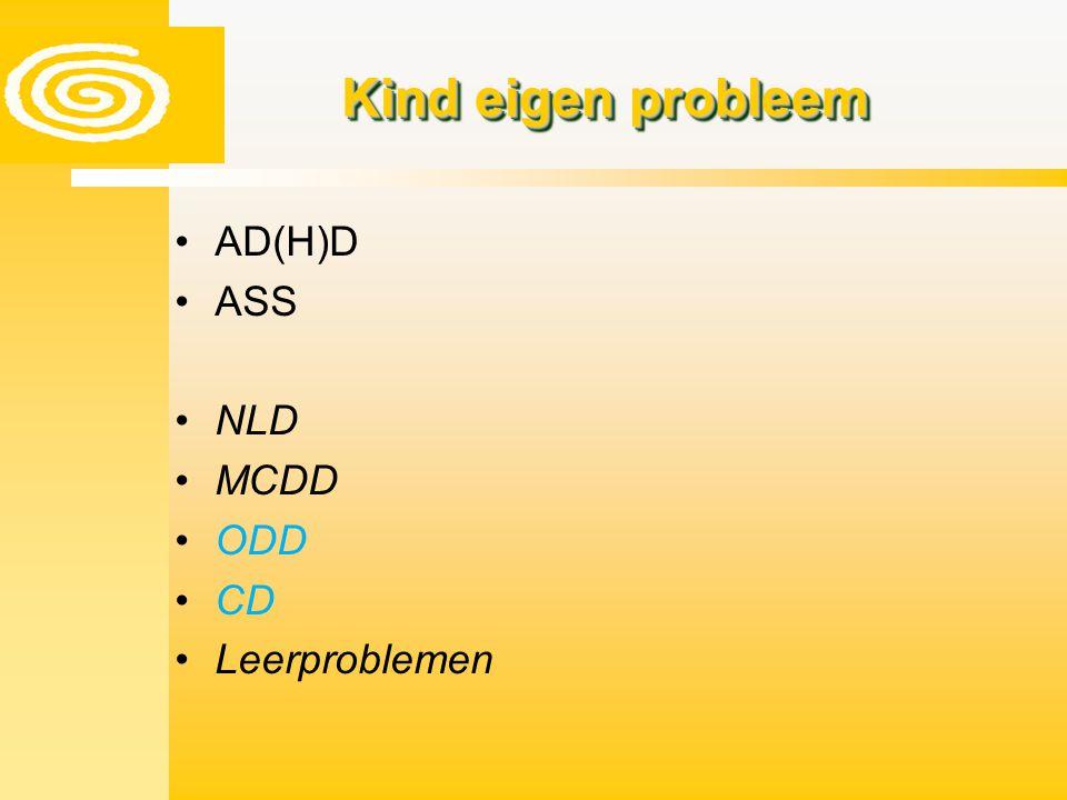 Kind eigen probleem AD(H)D ASS NLD MCDD ODD CD Leerproblemen