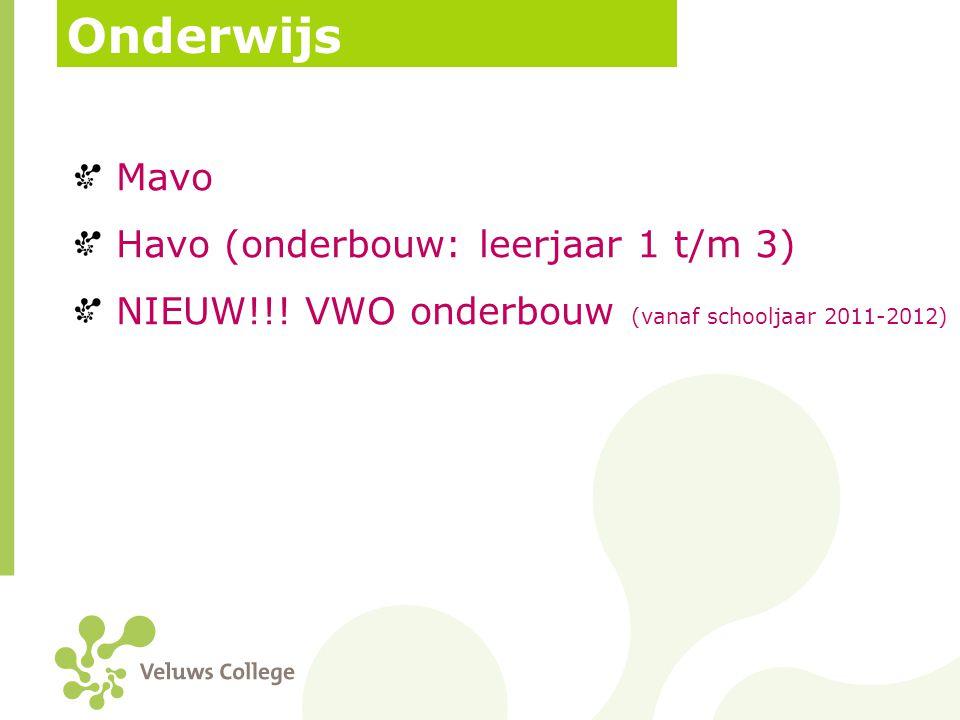 Onderwijs Mavo Havo (onderbouw: leerjaar 1 t/m 3)