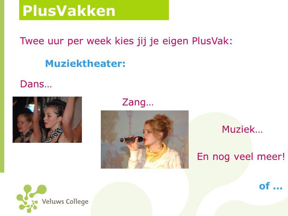PlusVakken Twee uur per week kies jij je eigen PlusVak: Muziektheater: