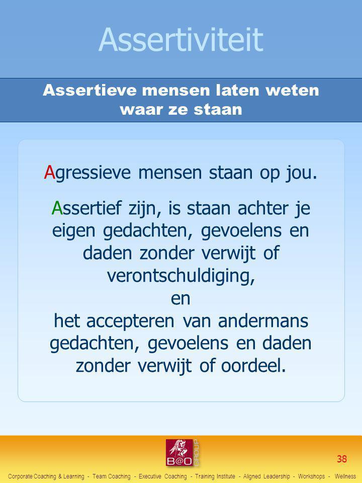 Assertiviteit Agressieve mensen staan op jou.