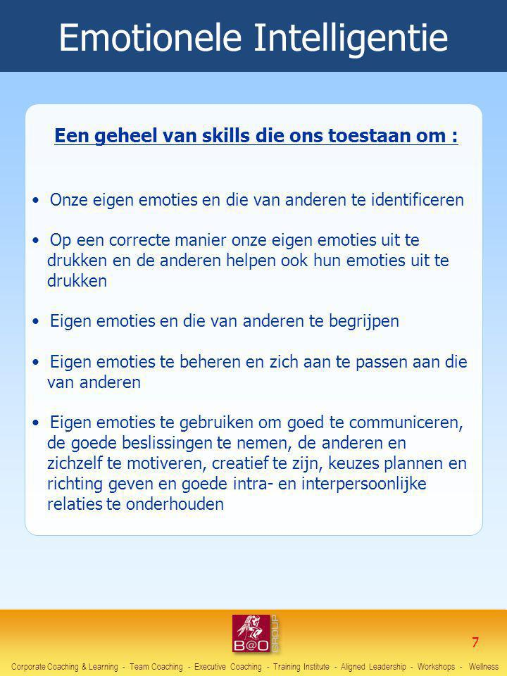 Een geheel van skills die ons toestaan om :