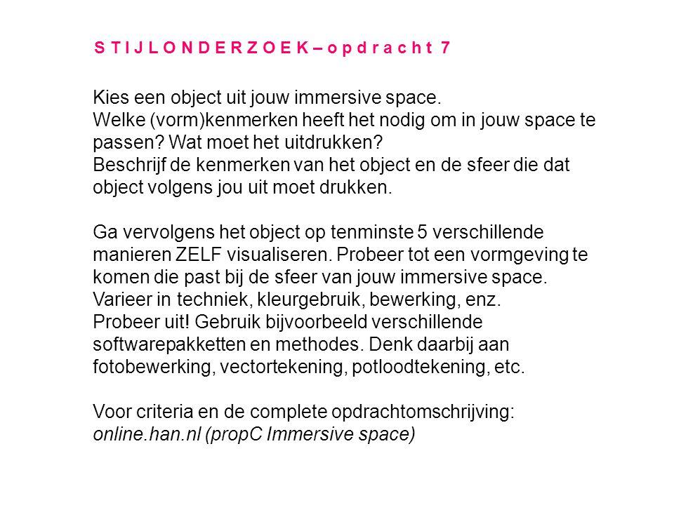 Kies een object uit jouw immersive space.