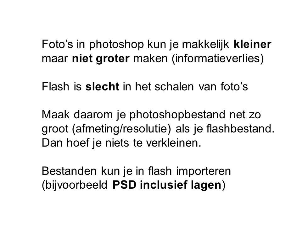 Foto's in photoshop kun je makkelijk kleiner