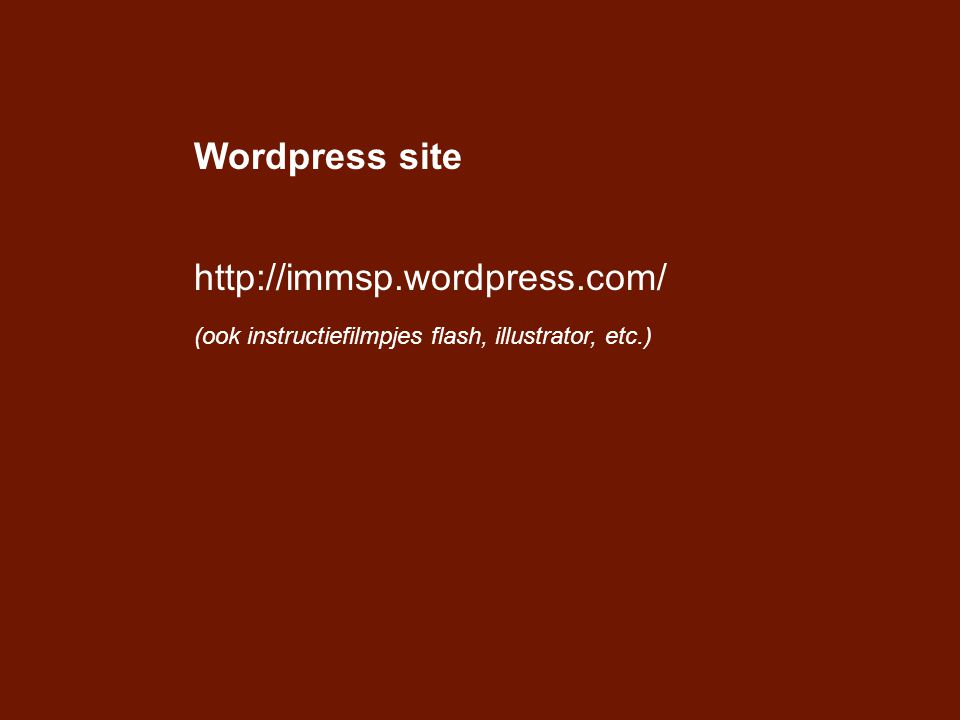 Wordpress site http://immsp.wordpress.com/