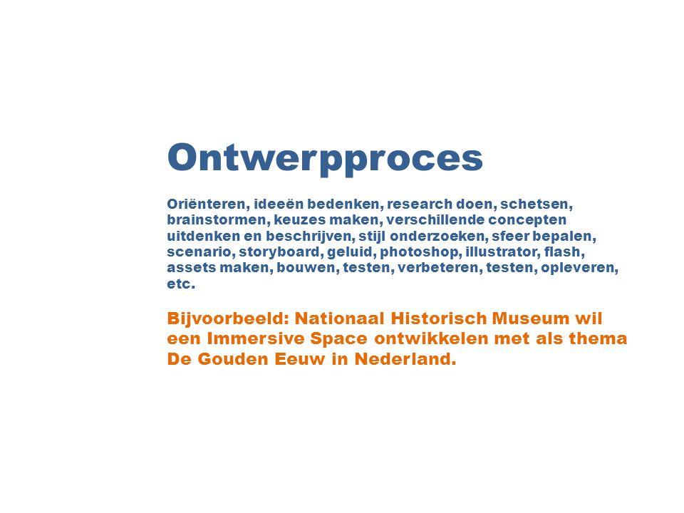 Ontwerpproces Bijvoorbeeld: Nationaal Historisch Museum wil